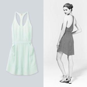 Aritzia Wilfred Babylone Silk Racerback Mini Dress